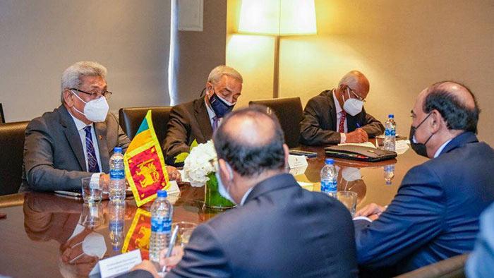 Sri Lanka President Gotabaya Rajapaksa met with Prime Minister of Kuwait Sheikh Sabah Al-Hamad Al-Sabah