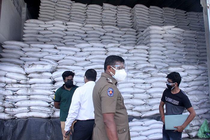 Hoarded sugar in Sri Lanka