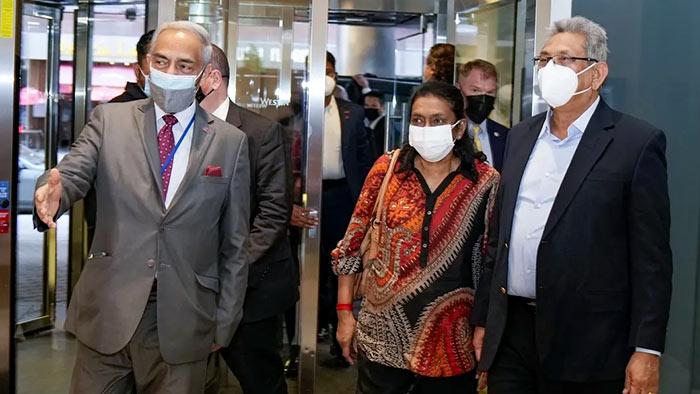 Sri Lanka President Gotabaya Rajapaksa arrives in New York