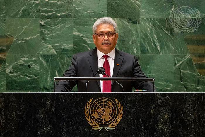 Sri Lanka President Gotabaya Rajapaksa at UN General Assembly