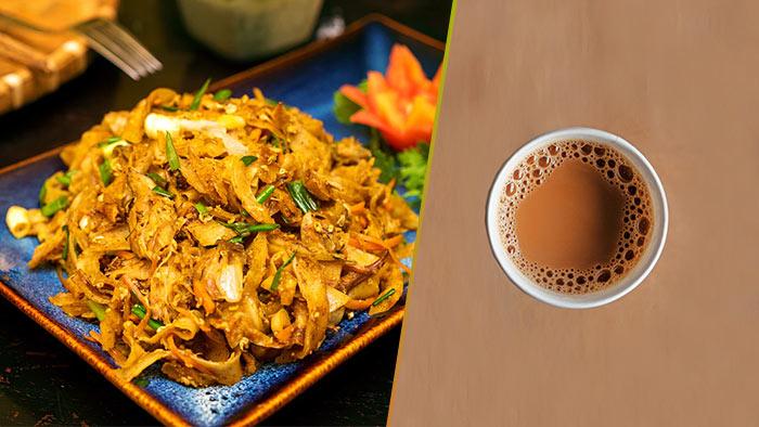Kottu and Milk Tea