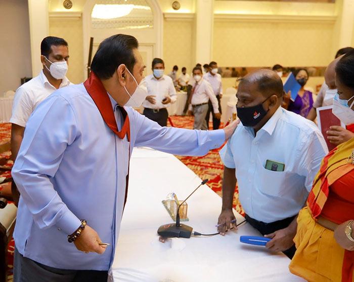 Mahinda Rajapaksa with Joseph Stalin