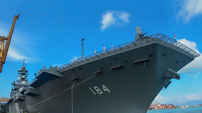 Three Japanese naval ships arrive at Colombo Port